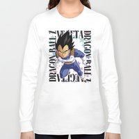 vegeta Long Sleeve T-shirts featuring Vegeta by Neo Crystal Tokyo