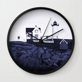 Navy Blue Lighthouse Wall Clock