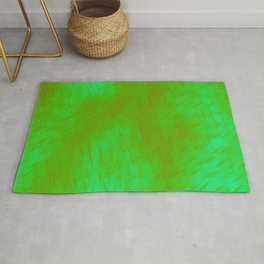 Line texture of green oblique dashes with a luminous intersection on a luminous charcoal. Rug