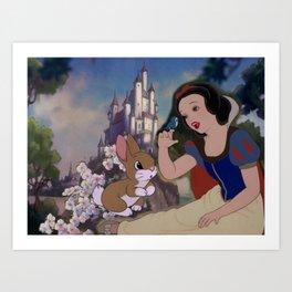 Disney Snow White Art Print