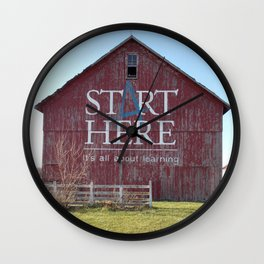 Start Here, It's All About Learning Wall Clock