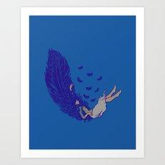 Falling dreams  Art Print