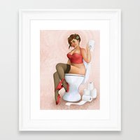 yolo Framed Art Prints featuring #yolo by Demian Crownfield