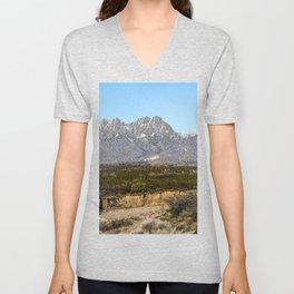 The Organ Mountain Range, New Mexico Unisex V-Neck