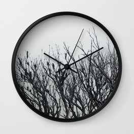 Scorched Branches Wall Clock