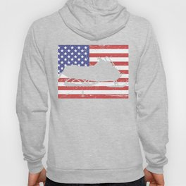 Snowmobile And United States Flag Hoody