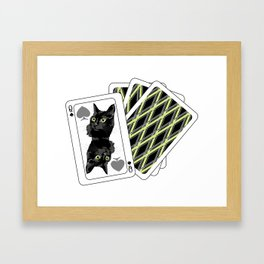 Play with cat! Framed Art Print