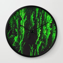 closeup green leaf texture abstract background Wall Clock