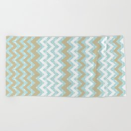 Chevrons and Dots Beach Towel