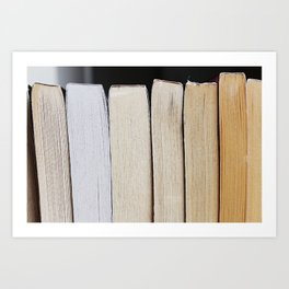 Book Pages Art Print