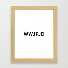 What Would John Paul Jones Do Framed Art Print