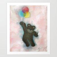 teddy bear Art Prints featuring Teddy by Logan Dempsey