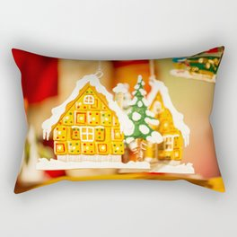Christmas decorations in Alsace, France. Rectangular Pillow
