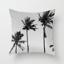 cocotier noir Throw Pillow