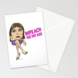 Impeach His Fat Ass Stationery Cards