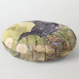 Canuck the Crow Floor Pillow