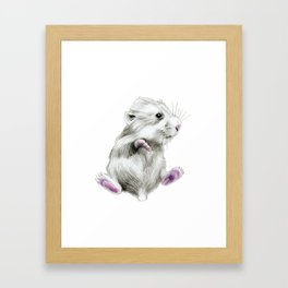 Sweet hamster Framed Art Print