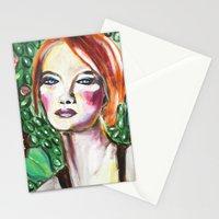 VanGogh Girl Stationery Cards