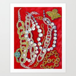 Pearls, Chains, & Cupid Art Print