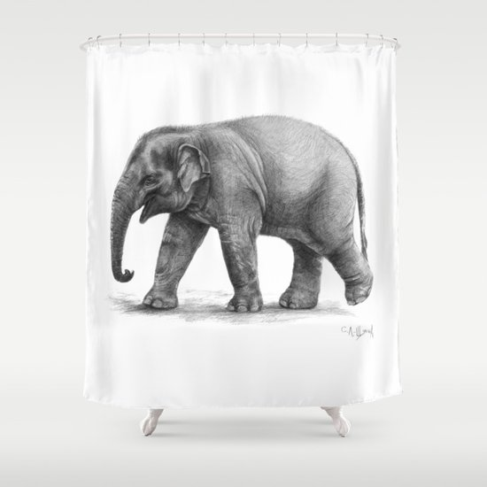 Elephant Baby G092 Shower Curtain