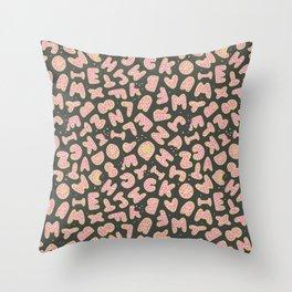 Alphabet Cookies Throw Pillow