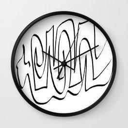 White black one Wall Clock
