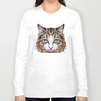 meow Long Sleeve T-shirts featuring MEOW by Ancello