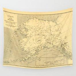 Map of Alaska (1909) Wall Tapestry