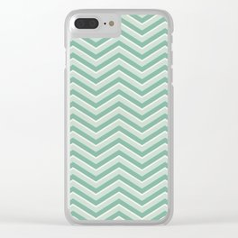 Chevron   Minty Green Clear iPhone Case