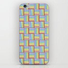 symetric tartan and gingham 20 -vichy, gingham,strip,square,geometric, sober,tartan iPhone Skin