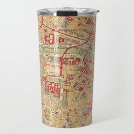 Paris City Centre Map - Vintage Full Color Travel Mug
