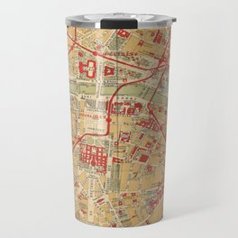Paris City Centre Map - Vintage Full Color Travel Mug