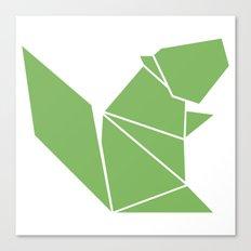 Squirrel origami Canvas Print