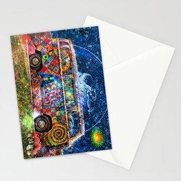 Hippie Trippy Magic Mushroom Bus  Stationery Cards