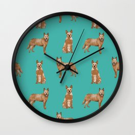 Australian Cattle Dog red heeler love dog breed gifts cattle dogs by pet friendly Wall Clock