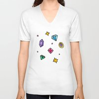 gem V-neck T-shirts featuring Gem by Madi Moon