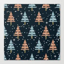 Winter. Christmas tree . Canvas Print