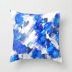 Blue Collective Throw Pillow