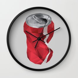 Crushed Cola Can Wall Clock