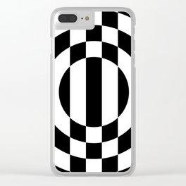 Hot Spot || Black & White Clear iPhone Case