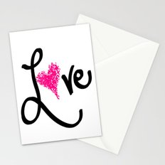 Love with your heart Stationery Cards