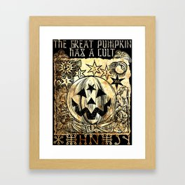 Cult of the Great Pumpkin: Sun, Moon and Angels Framed Art Print