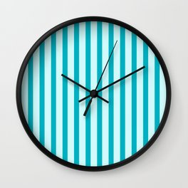 Happy Place Candy Stripe in Blue Wall Clock