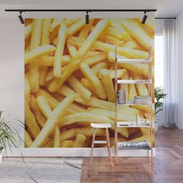 French fries pattern  Wall Mural