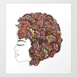 Her Hair - Les Fleur Edition Art Print