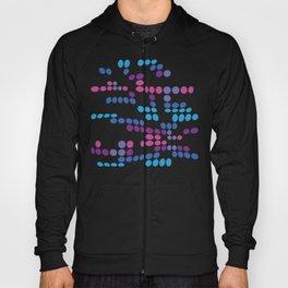 Dottywave - Blue Purple wave dots pattern Hoody