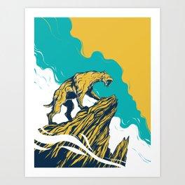 Smilodon Art Print