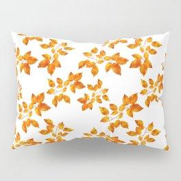 Orange Leaf Art Pillow Sham