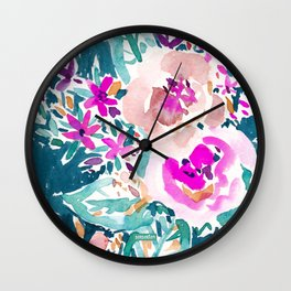 FULL ON FLORAL Wall Clock
