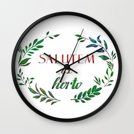 Greetings from the Garden! Wall Clock